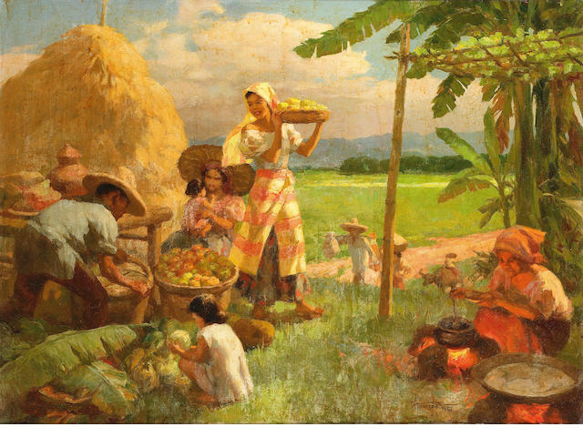 Fernando Amorsolo y Cueto (Filipino 1892-1972) A midday restsigned and dated 1957, oil on canvas