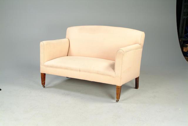 An Edwardian sofa