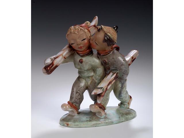 Goldscheider, A pottery figure,