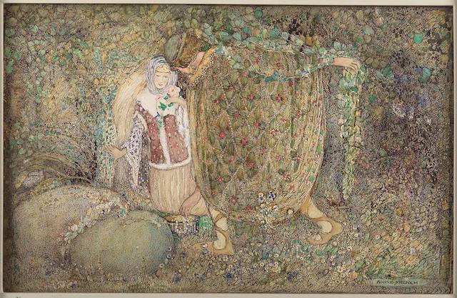 Annie French (1872-1965) 'Tristram & Iseult' 23cm x 36cm