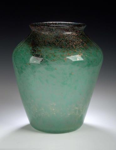 Monart A large glass vase,
