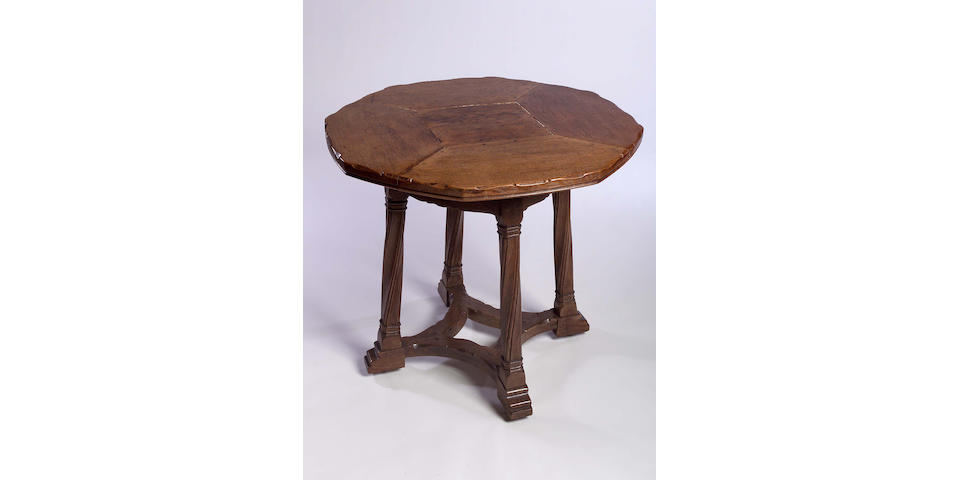 Sir Robert Lorimer, an oak centre table,