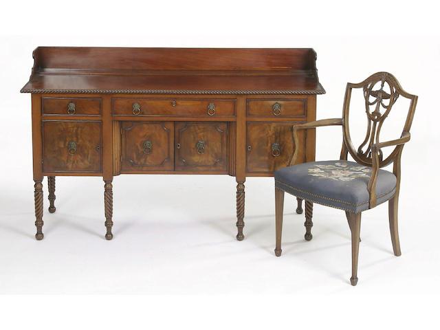 An early 19th Century mahogany sideboard,