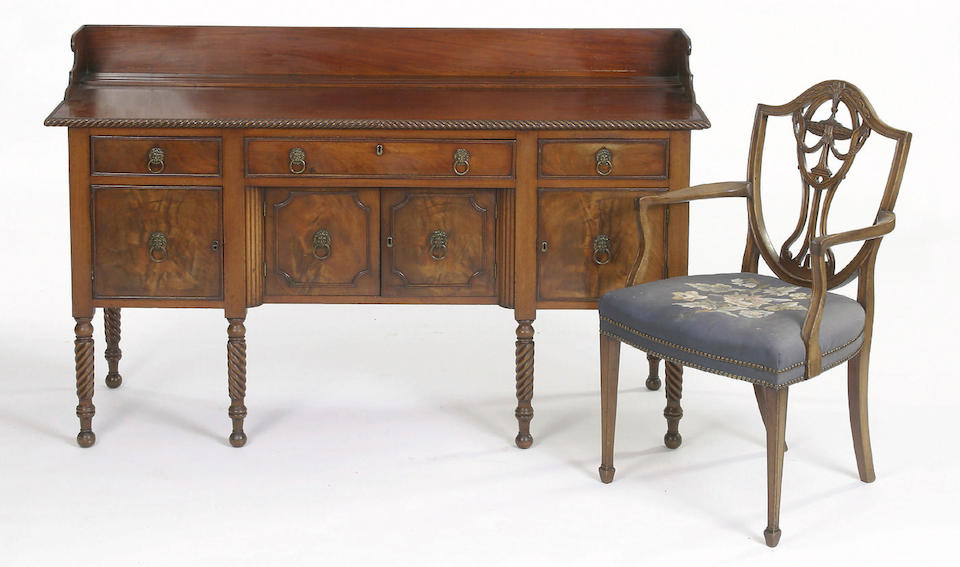 An early 19th Century mahogany sideboard,