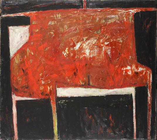 William Scott R.A. (1913-1989) Figure - Red and Black