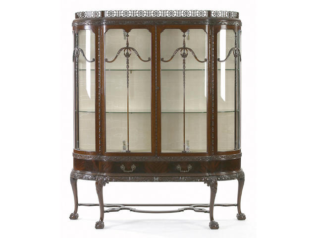 An Edwardian mahogany display cabinet,