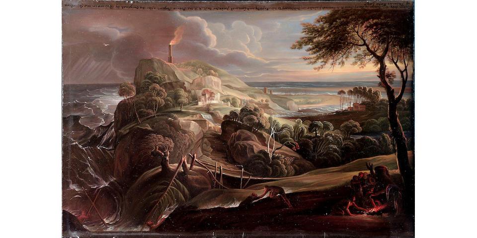 Henry Bone R.A. (British, 1755-1834), The Shipwreck of Aeneas
