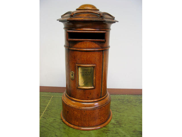 A Victorian oak 'country House' letter box