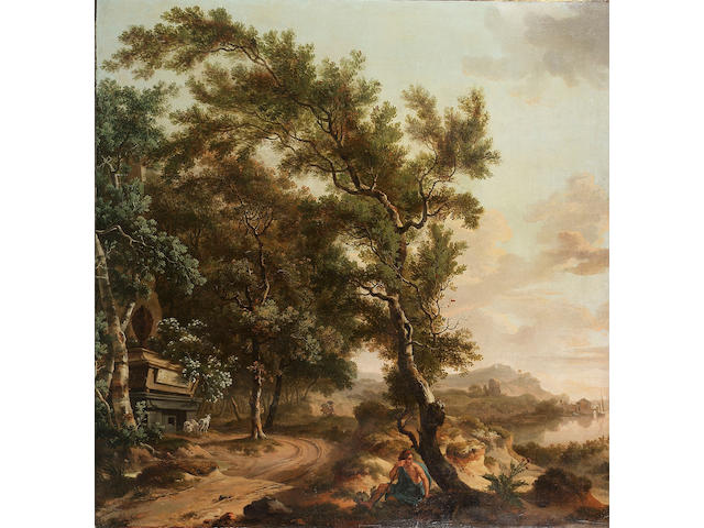 Circle of Jurien Adriaensen (active The Netherlands, 18th Century) An extensive wooded landscape