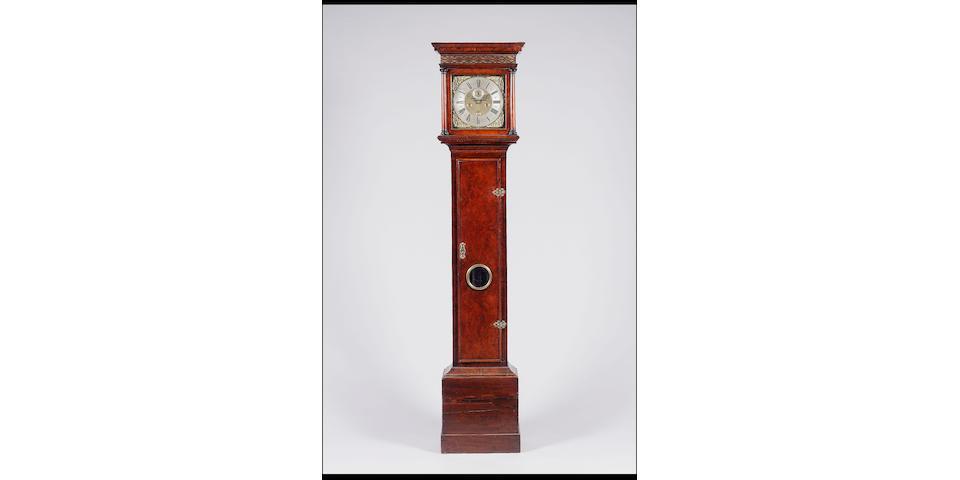 A late 17th/early 18th century walnut longcase clock J. Windmills, London