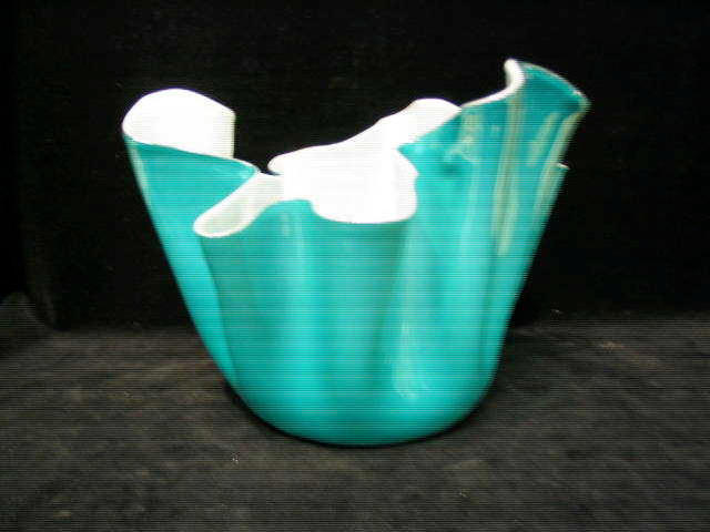 Venini, circa 1960, A 'Handkerchief' glass vase,