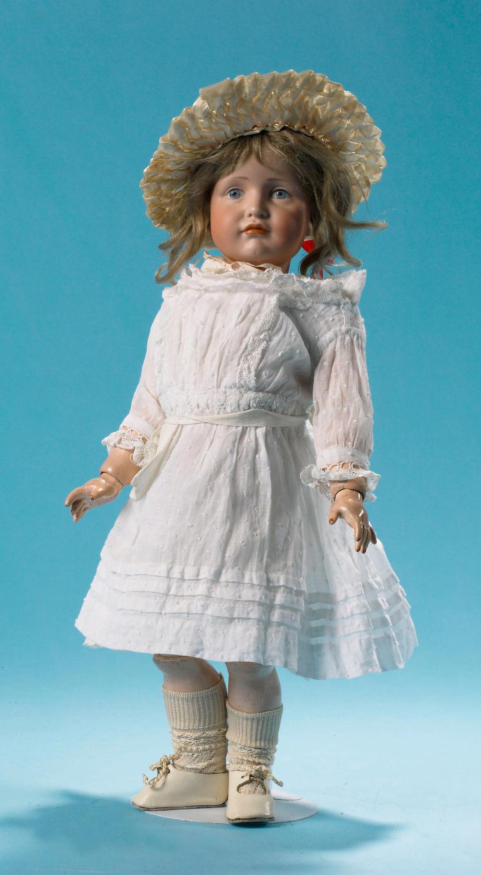 A Kammer & Reinhardt 114 bisque character doll, circa 1910