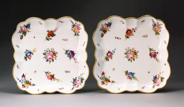 A good pair of Nantgarw dessert dishes circa 1818-20
