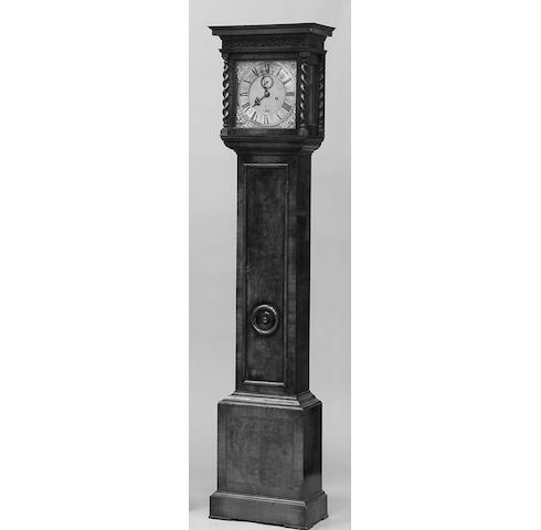 Joshua Travis,An 18th century walnut cased longcase clock