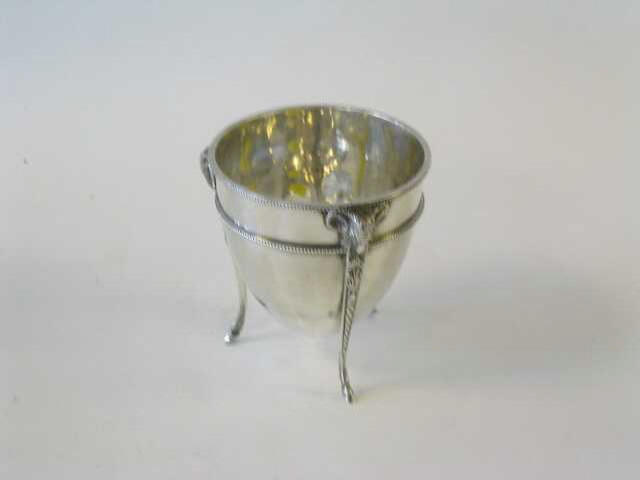 A Victorian demi-ovoid bowl, maker 'A.G.P.', 1863,
