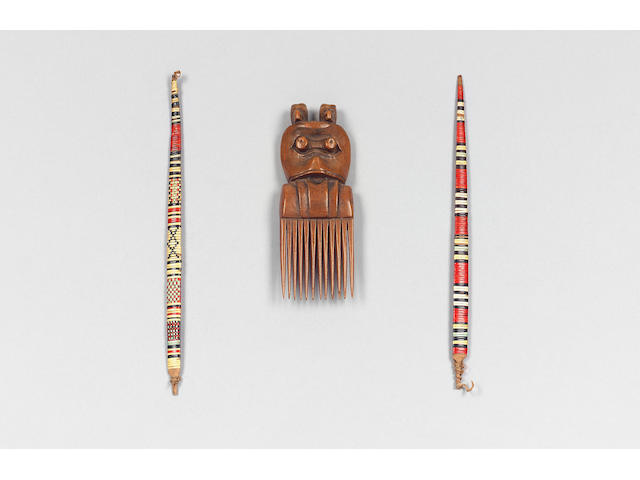 Salish wood comb