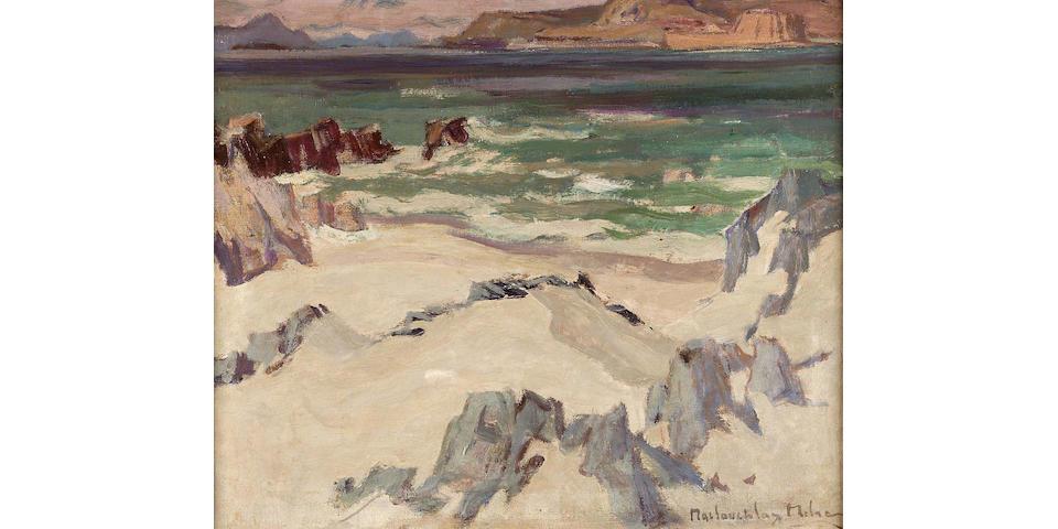 "John Maclauchlan Milne RSA (1886-1957) West coast silver sands 51 x 61cm (20x24"")"