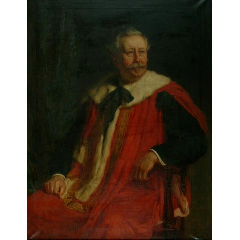 Hugh Goldwin Riviere (1869-1956) 'Lord Southwark in his robes'