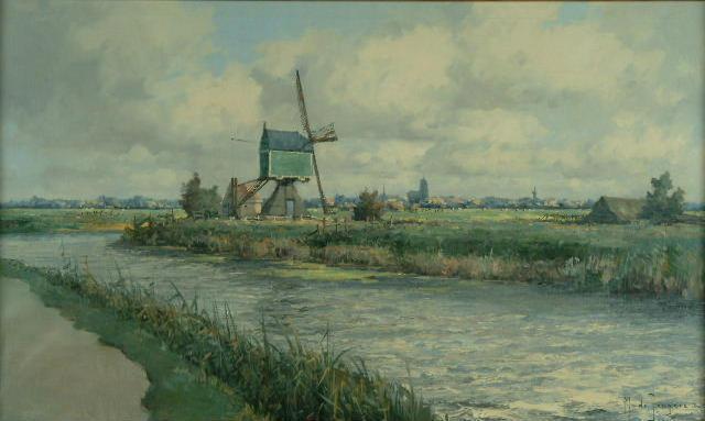 Marinus de Jongere (1912-1978 Dutch) 'By Schronhoven'