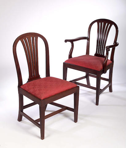 A set of ten George III style Dining Chairs,