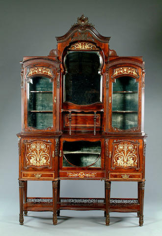 An Edwardian Rosewood inlaid side cabinet