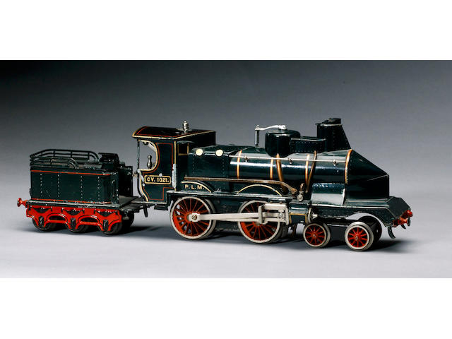 Marklin gauge 1 PLM wind-cutter locomotive and tender, circa 1910