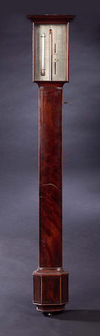 An early 19th Century mahogany and boxwood strung Stick Barometer,