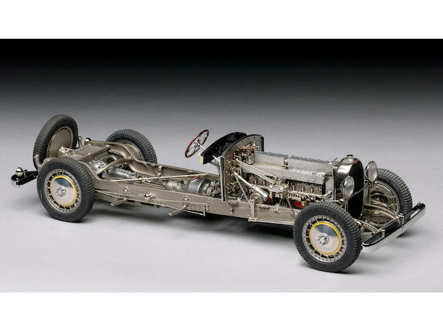 Chassis model 1/15th scale 1931 Bugatti type 41 'Royale',