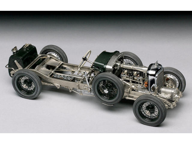 Chassis model 1/15th scale 1929 supercharged 4½ litre Bentley ,