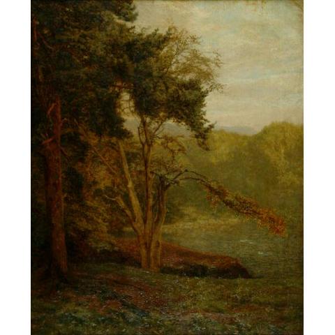 Frank Walton (1840-1928) 'Duck on a Surrey pond'
