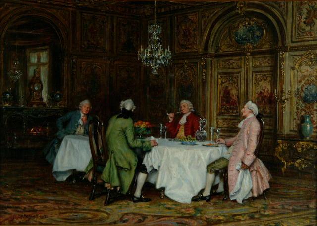 Frank Moss Bennett (1874-1953) 'The after dinner smoke'