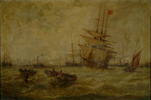 William Edward Webb (1862-1903) 'The Mersey, Liverpool'