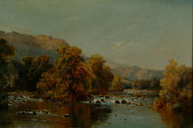 Alfred de Breanski (1852-1928) 'At Bettws-y-Coed'