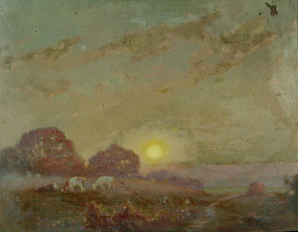 Fred Hall - Cattle grazing on a summer evening