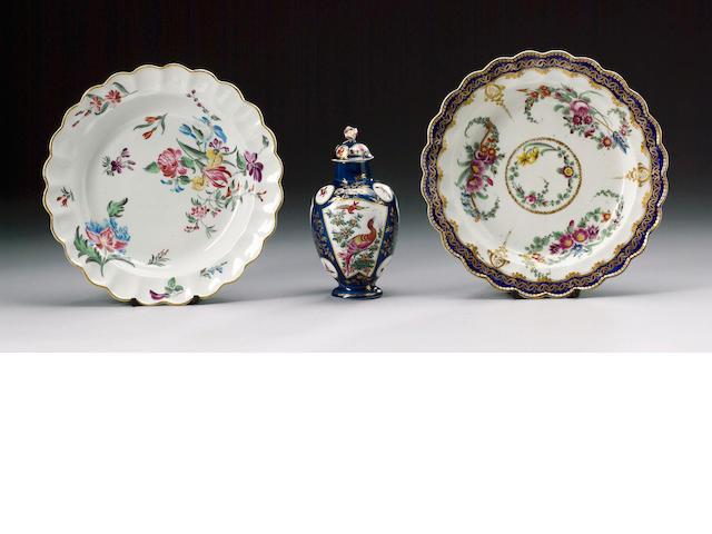 A Worcester dessert plate circa 1765-70