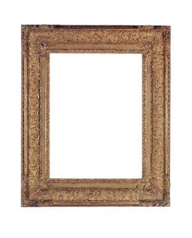 A Louis XIV carved and gilded frame,