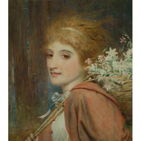 Frederick Smallfield (1829-1915) watercolour 31 x 27cm