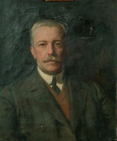 William Logsdail (1859-1944) 'Fred Hall - head and shoulders portrait