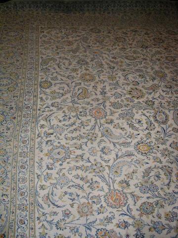 A Kashan carpet Central Persia, 495cm x 362cm