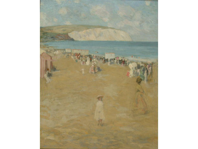 Sir Gerald Kelly (1879-1972) 'On the beach'