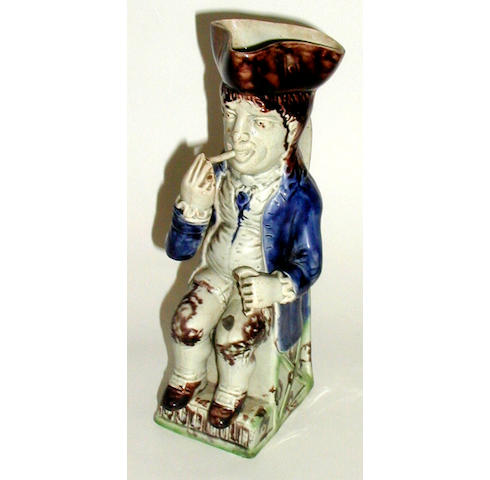 A Staffordshire 'Thin Man' toby jug,