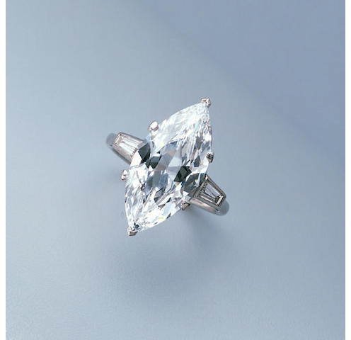 A D-colour diamond single stone ring,