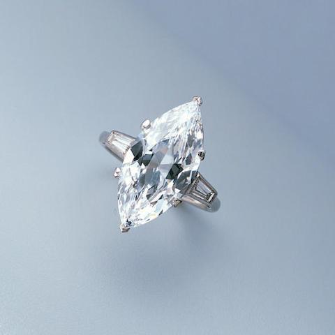A D-colour diamond single stone ring