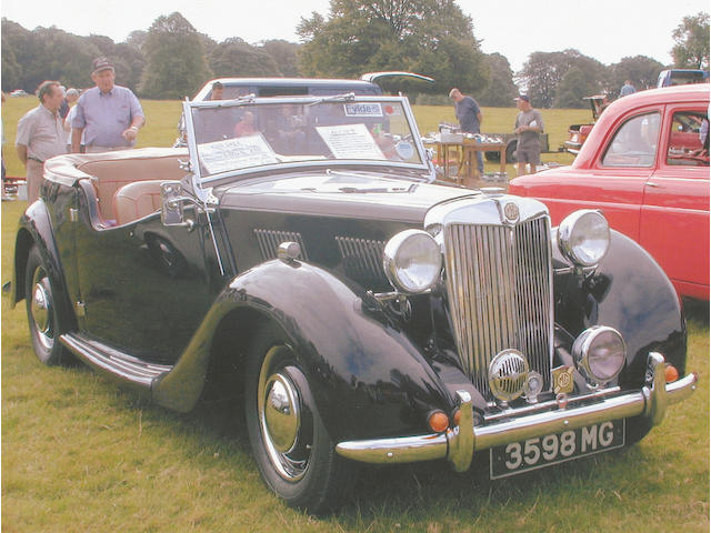 1949 MG YT Four Seater Tourer  Chassis no. Y/T EXR 2583 Engine no. XPAG/TR/12408