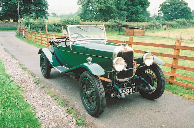 1930 Alvis 12/50 TJ Ducksback Three Seater Coachwork by Wilkinsons of Derby 13430