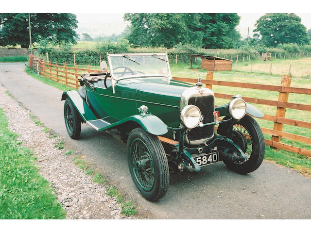 1930 Alvis 12/50 TJ Ducksback Three Seater Coachwork by Wilkinsons of Derby  Chassis no. 13430 Engine no. 8954