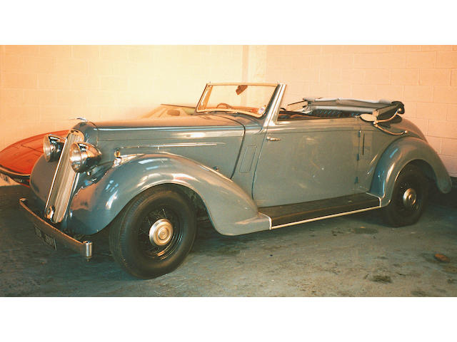 1937 Humber Snipe Drophead Coupe  Chassis no. 2567223 Engine no. 67222