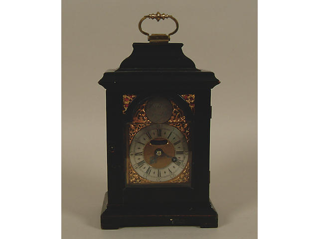 Thos. West, London : An ebonised bracket timepiece