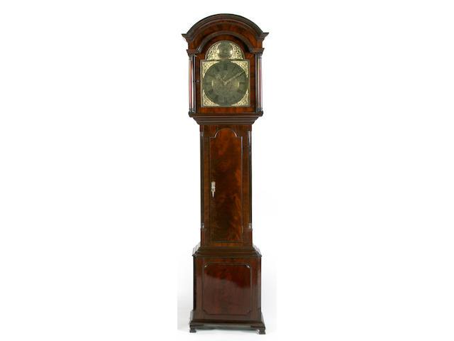 An 18th Century mahogany longcase clock,