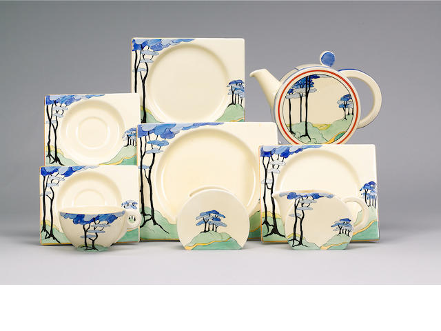 'Blue Firs'  A Biarritz Tea Set